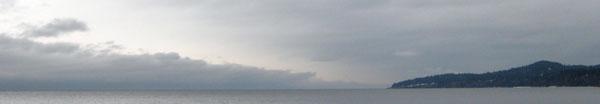 at the horizon