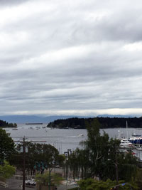view from Nanaimo hotel room